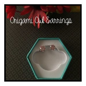 Origami Owl Pink  Classic Stud Earrings